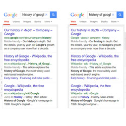 Google URL Presentation Changes