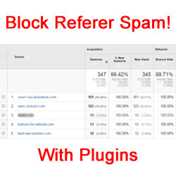 Block Spam Referers with Plugins