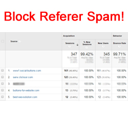 Block Spam Referers in htaccess