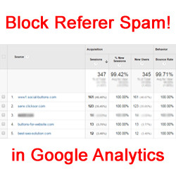 Block Referer Spam In Google Analytics
