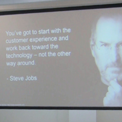 start with the customer experienc